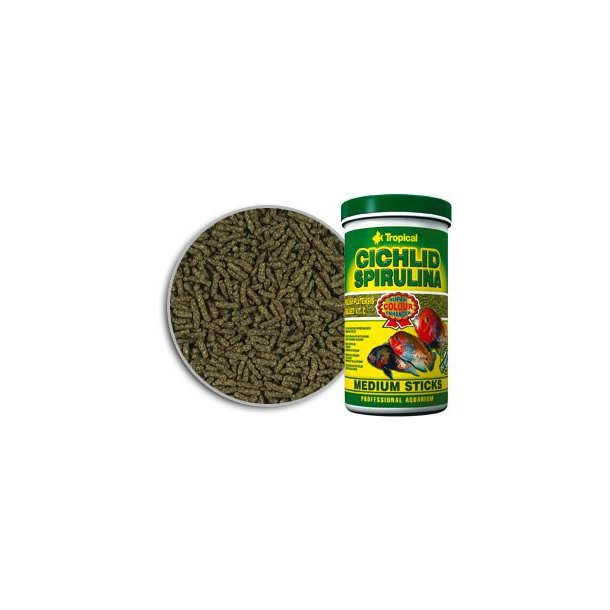 Tropical Cichlid Spirulina Medium Sticks 1 Liter