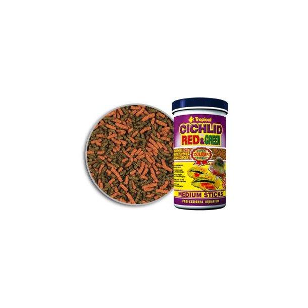 Tropical Cichlid Red og Green sticks medium 1 liter